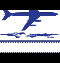 map and airplane vector image
