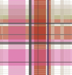 plaid check fabric pattern vector image vector image
