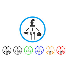 Pound consumption pattern rounded icon vector