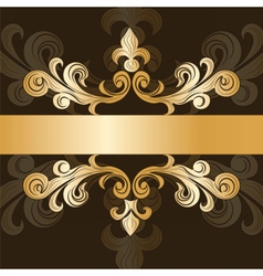 Royal classic ornament invitation vector