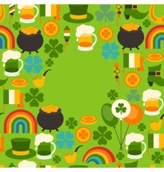 Saint Patricks Day greeting card vector image
