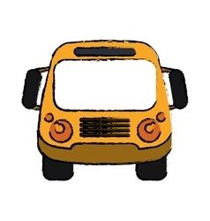 school bus student transport sketch vector image