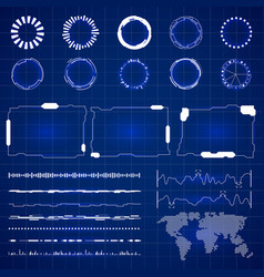 sci futuristic hud interface modern technology vector image