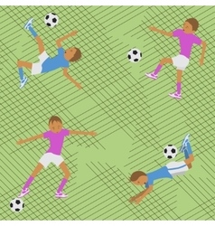 Seamless pattern soccer match vector image vector image