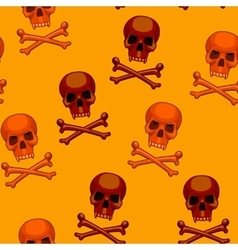 seamless skull and crossbones cartoon vector image
