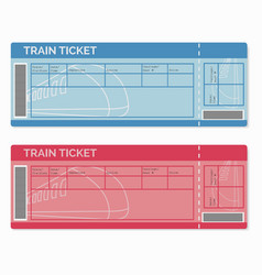 Set of train tickets isolated on white vector