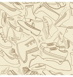 Shoes seamless retro vector image vector image