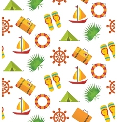 Summer holiday seamless pattern vector