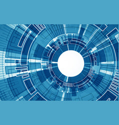 technology futuristic digital background vector image vector image