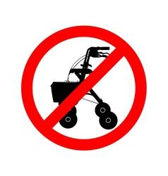 Walking frame prohibited vector