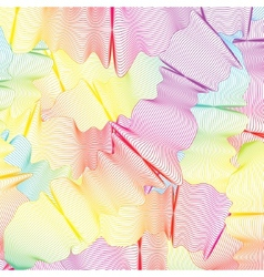 wavy curved colored lines EPS 8 vector image
