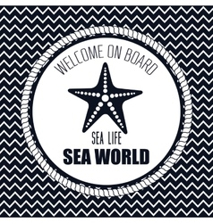 welcome on board starfish sea vector image
