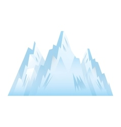 Mountains picture isolated icon vector