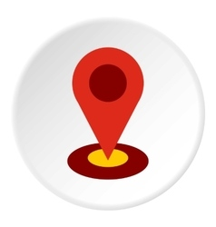 Gps icon flat style vector