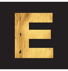 Uppercase letter e of the english alphabet vector