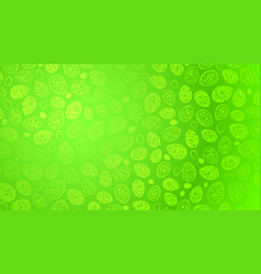 Background of easter eggs with curls vector