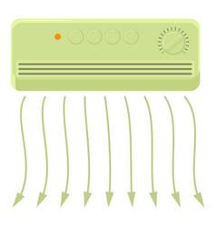 wall heater icon cartoon style vector image