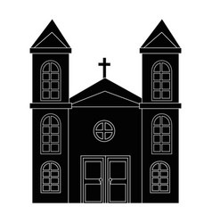 isolated big church vector image