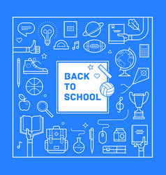 back to school poster or invitation vector image