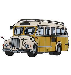 Vintage yellow bus vector