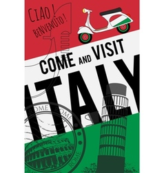Italy travel invitation poster vector