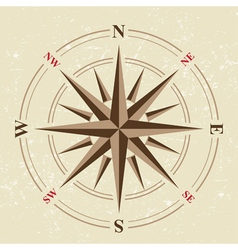 Vintage compass icon vector