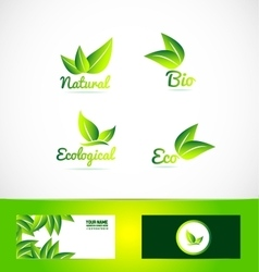 Bio organic eco product logo vector