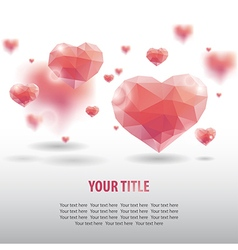 Geometric heart background vector