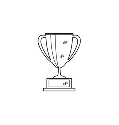 Outline of trophy cup vector