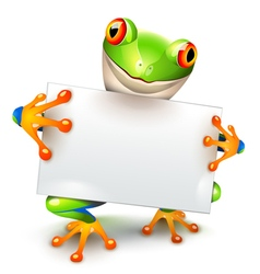Tree frog message vector image