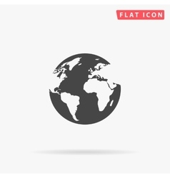 Earth simple flat icon vector