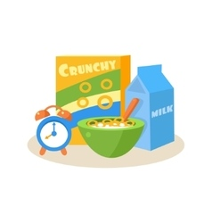 Pupil breakfast education design vector