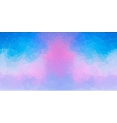 Blue and Pink abstract polygonal background vector image