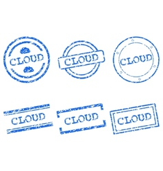 Cloud stamp vector