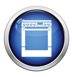 Kitchen main stove unit icon vector