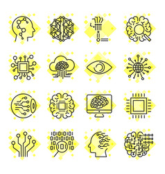 Artificial intelligence icons icons for vector