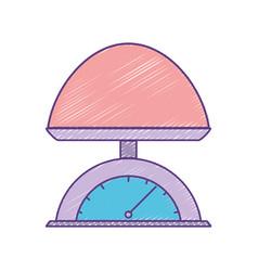 Baby weight machine balance tool vector