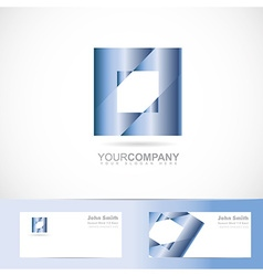 Blue square logo vector image vector image