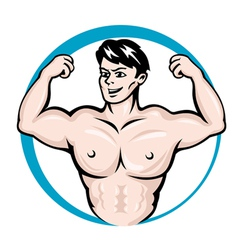 bodybuilder man vector image