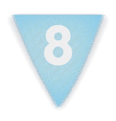 Bunting flag number 8 vector