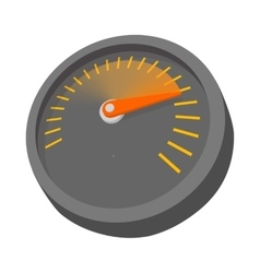 Car speedometer or tachometer icon cartoon style vector