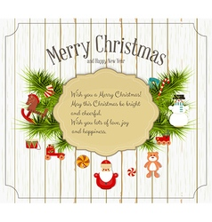 Christmas and new year card vector