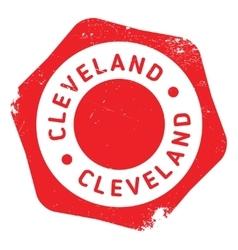 Cleveland stamp rubber grunge vector