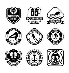 Diving badges vector