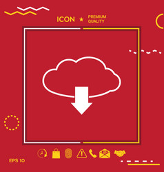 Download from cloud vector