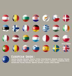 European union round flags vector
