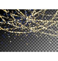 Falling Christmas shining gold glitter snowfall vector image vector image