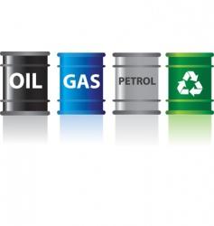 fuels in barrels vector image