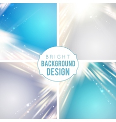 Futuristic blue abstract glowing background vector image vector image