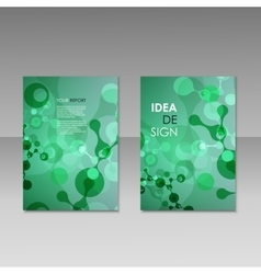 Geometric abstract modern colorful brochure vector image